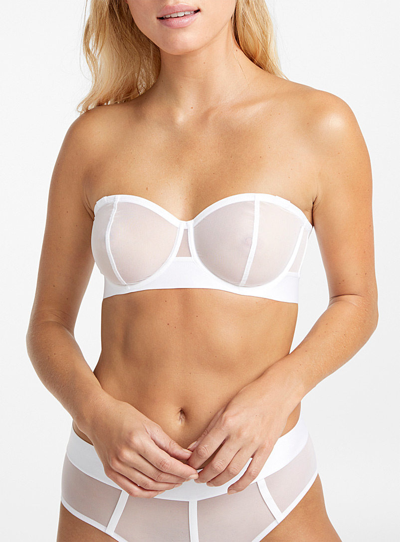 Sheer mesh convertible bra