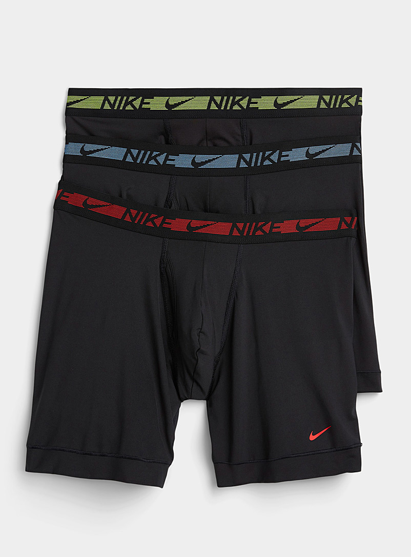 Nike Patterned Black Striped waistband Micro boxer briefs 3-pack for men