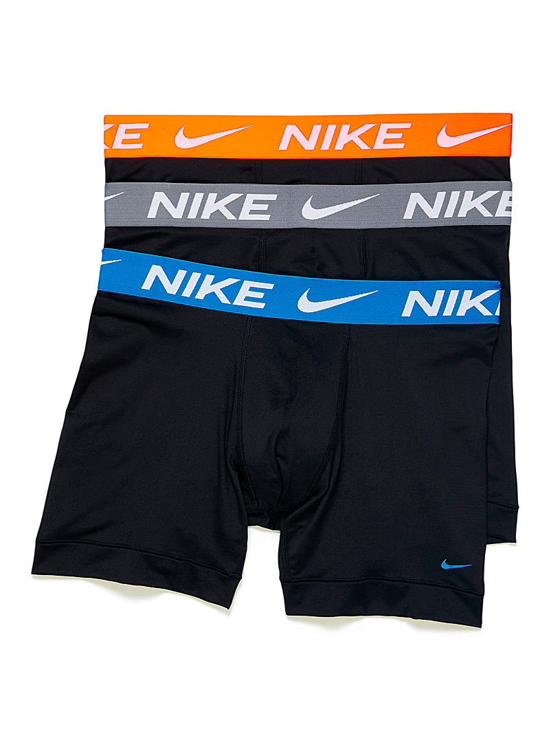 Nike Patterned Blue Essential boxer briefs 3-pack for men