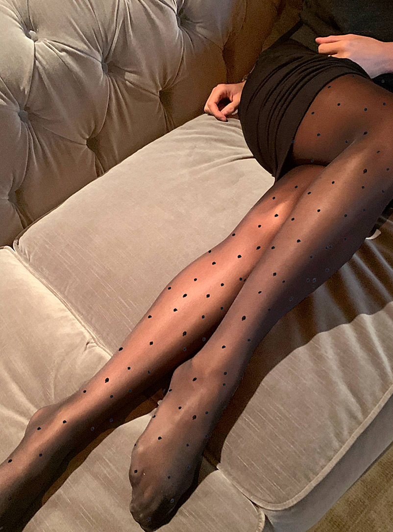 Pin dot sheer pantyhose
