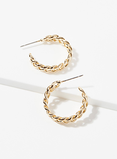 Metallic chain hoops
