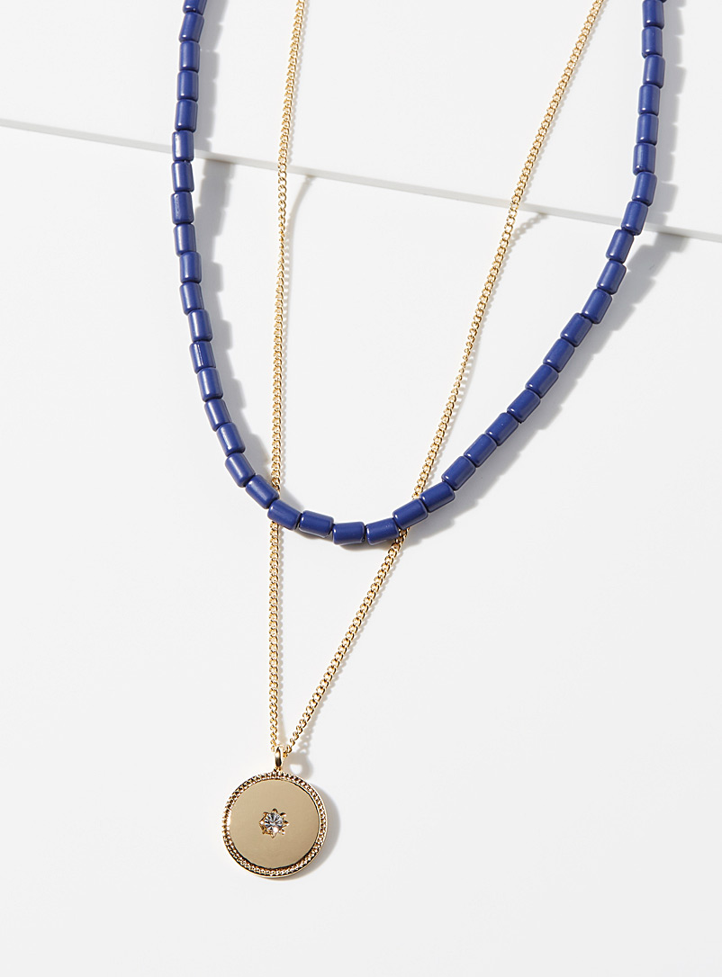 Simons Patterned Yellow Starry night necklace for women