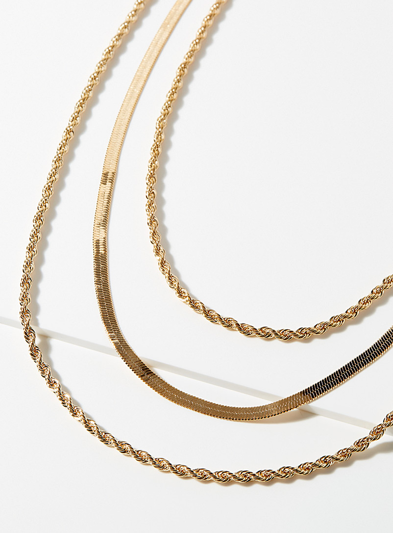 Simons Assorted Dazzling gilt necklace for women