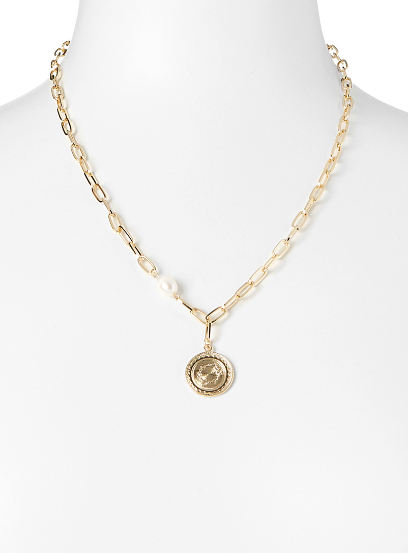 Simons Assorted Chain and shield necklace for women