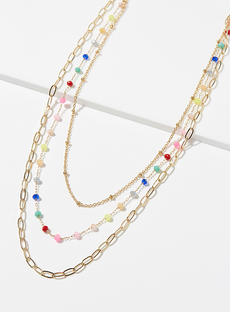 Simons Assorted Rainbow necklace for women