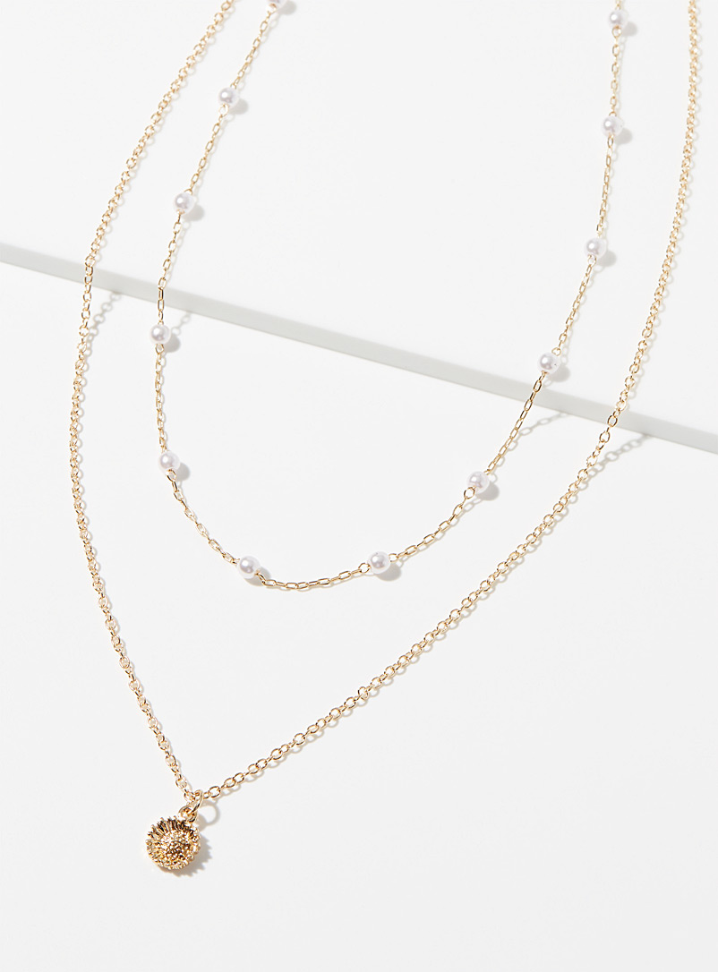 Simons Assorted Sunflower necklace for women