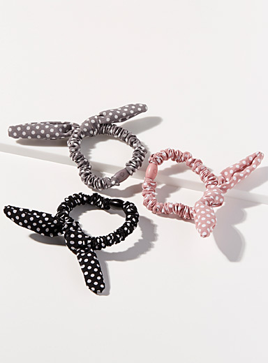 Small dotted scrunchies Set of 3