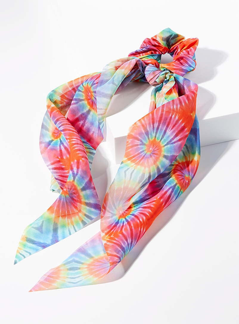 Simons Assorted  Multi-colour tie-dye scrunchie scarf for women