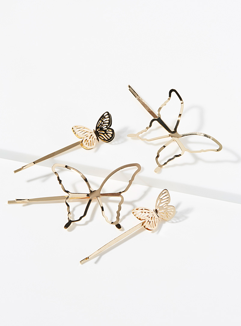 Openwork butterfly clips  Set of 4