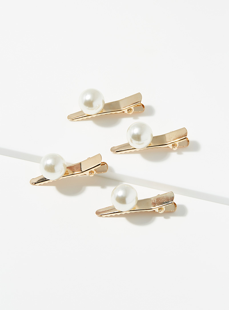 Trendy pearl mini clips  Set of 4