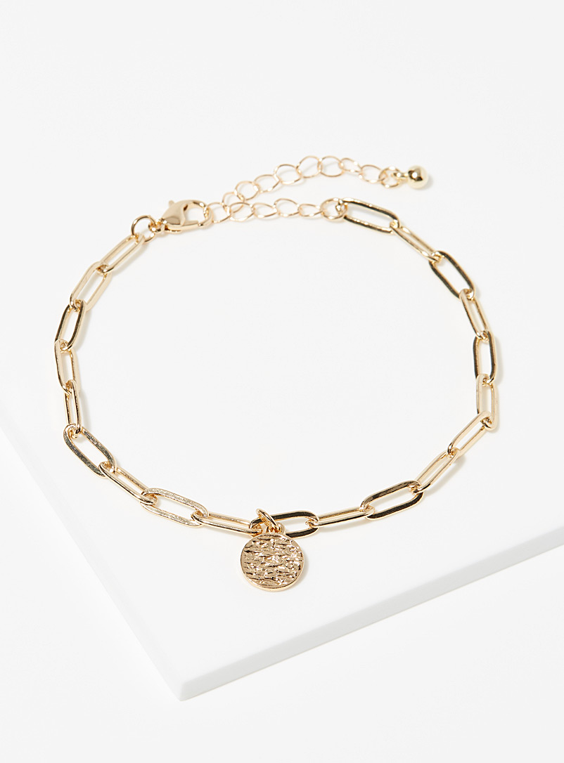 Simons Assorted Cable-chain anklet for women