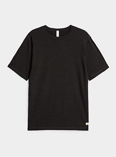 Vuori Black Tuvalu Pima cotton T-shirt for men