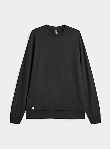 Vuori Black Ponto hoodie for men