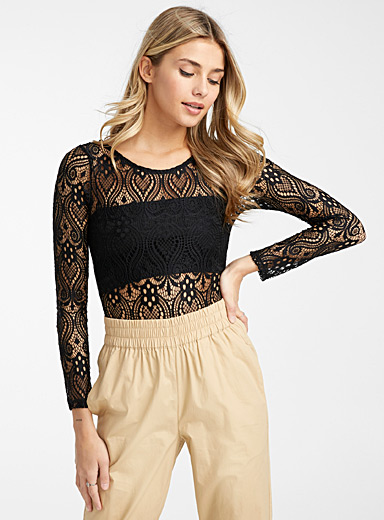 Lace tapestry bodysuit