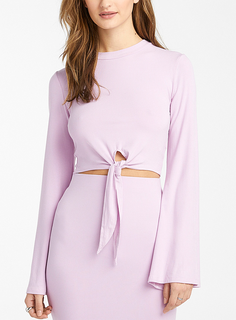 Icône Lilacs Trumpet-sleeve cropped tee for women