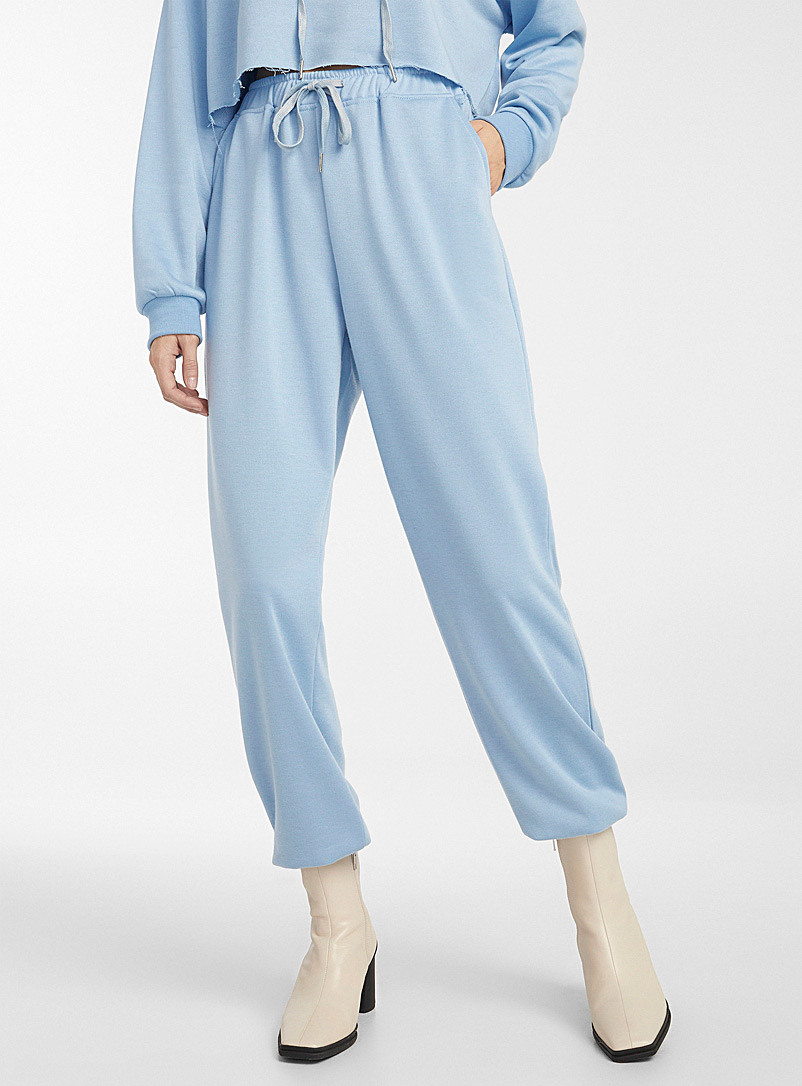 Icône Baby Blue Jersey athletic jogger for women