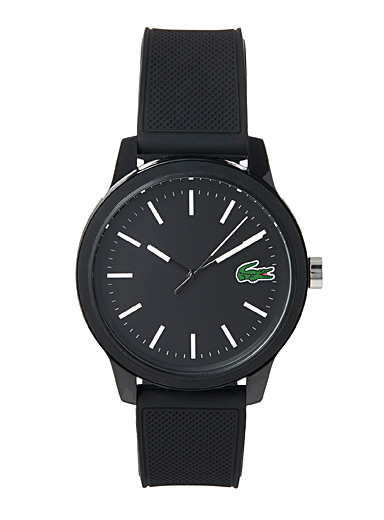 Silicone-band watch