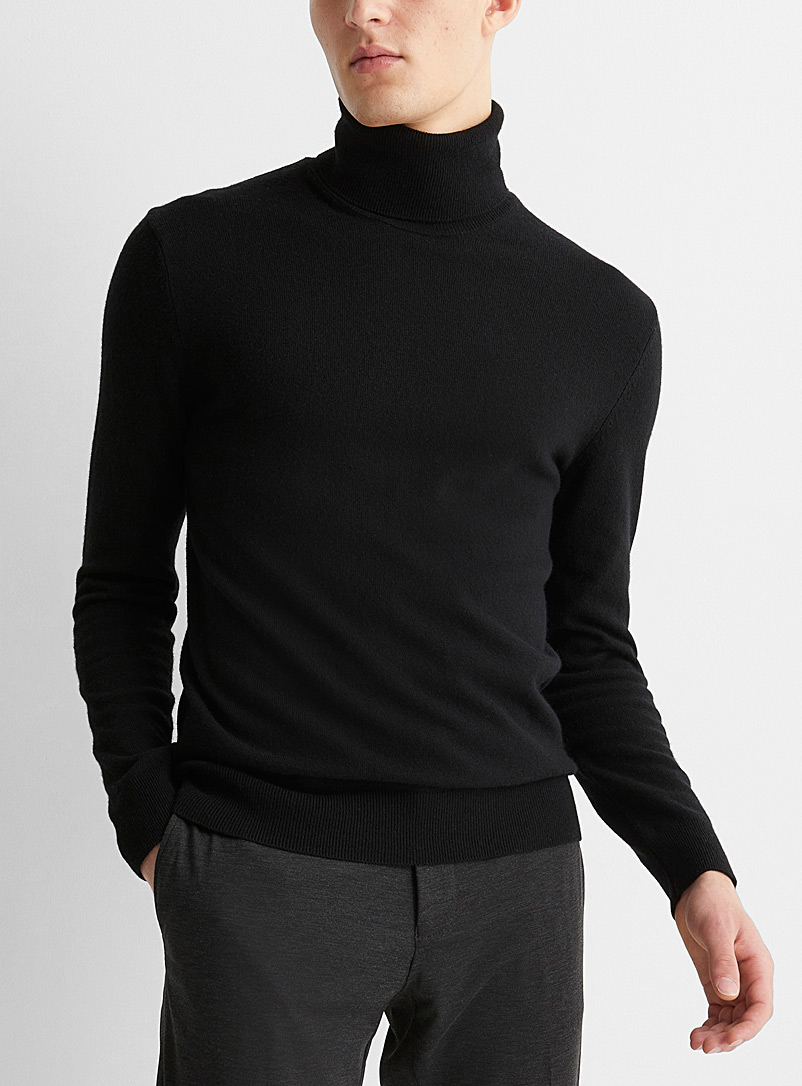 Sisley Black Monochrome turtleneck for men