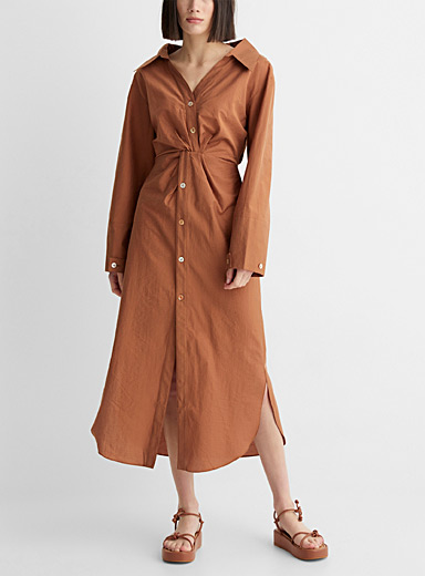Ayse twisted shirtdress