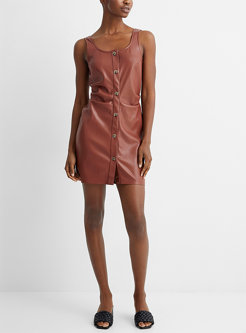 Nanushka Copper Vegan leather Ernie dress for women