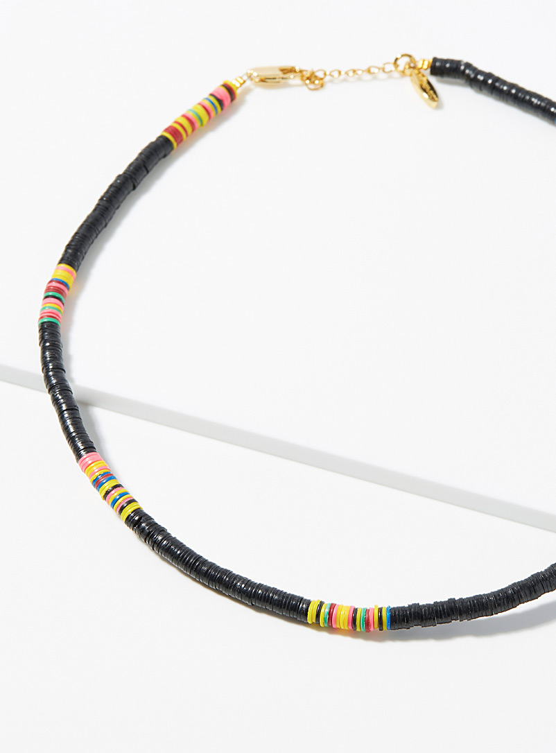 All the Must Black Heishi recycled discs choker for women