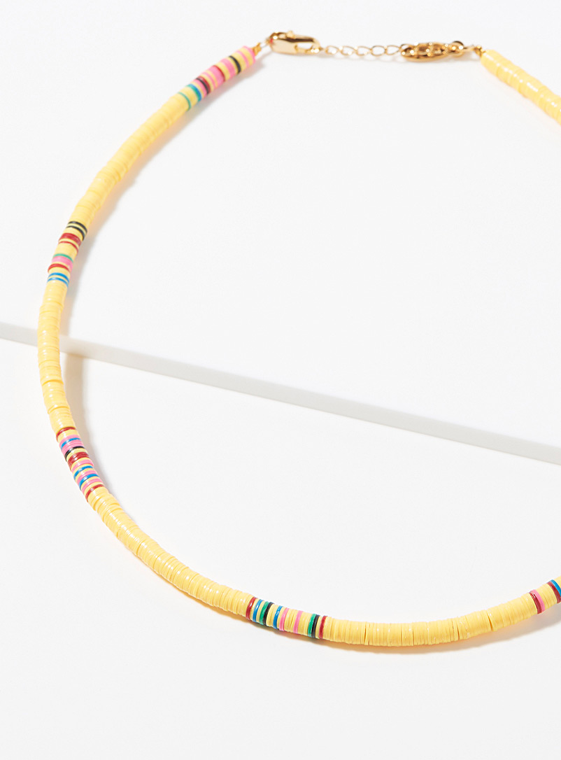 All the Must Blue Heishi recycled discs choker for women