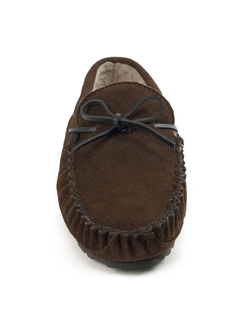 Minnetonka Brown Casey moccasin slippers  Men for men