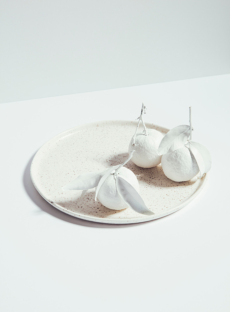 Atelier Make White Satiny porcelain plate