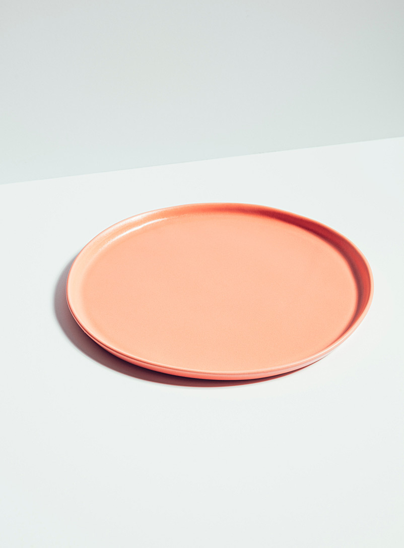 Atelier Make Pink Satiny porcelain plate