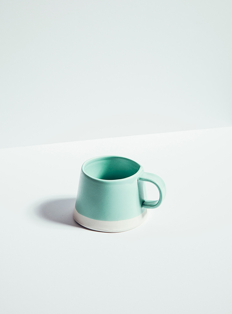 Atelier Make Teal Satiny porcelain mug