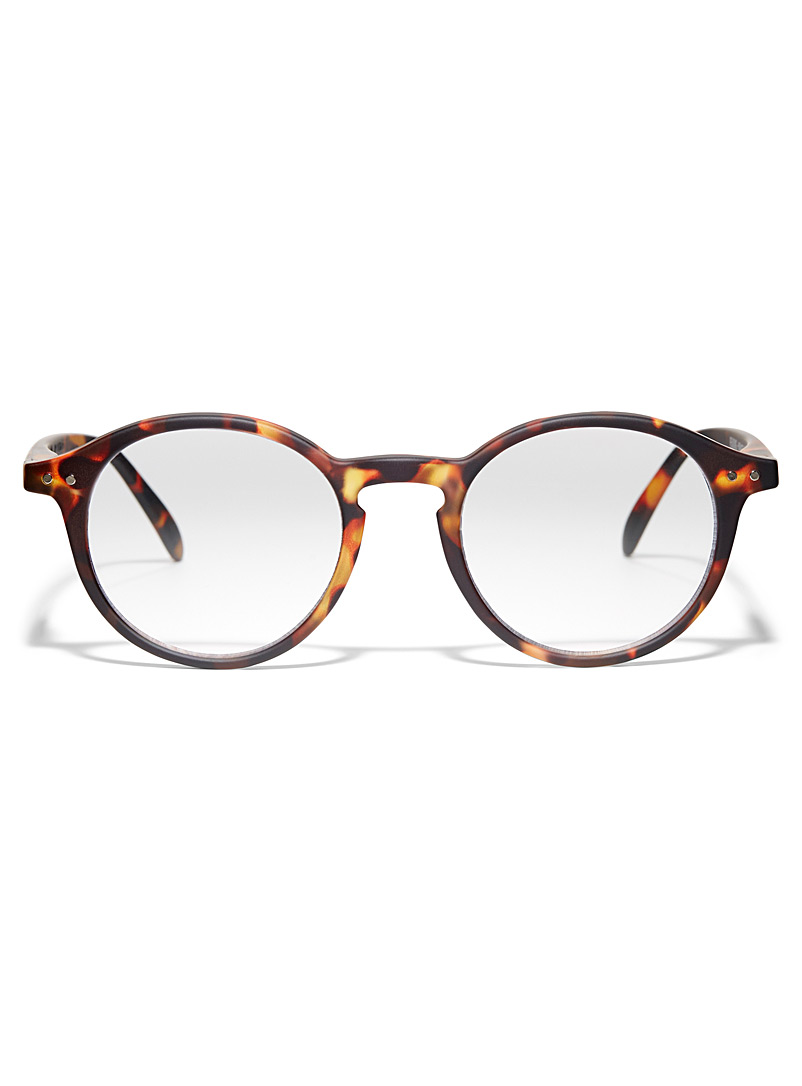 IZIPIZI Brown  D reading round glasses for women