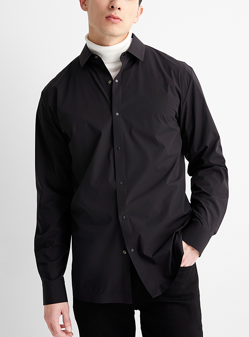Le 31 Black Featherweight stretch shirt Comfort fit for men