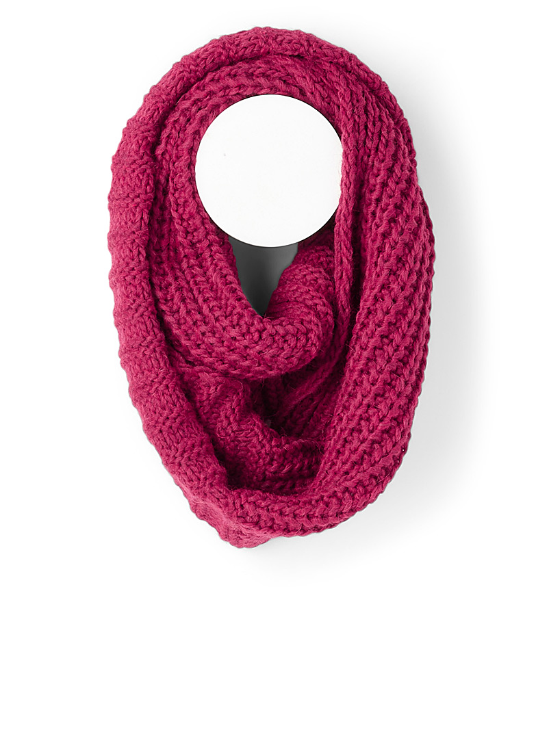Two-way knit infinity scarf