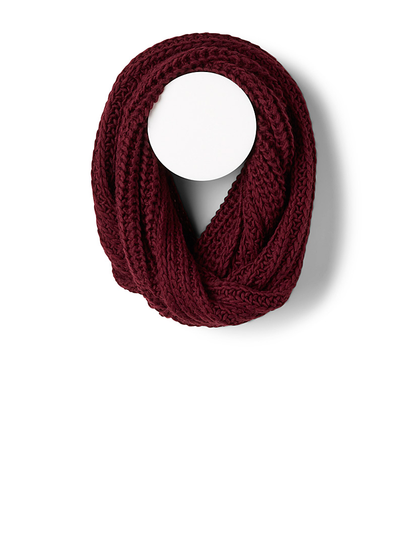 Simons Yellow Chunky-knit wool infinity scarf for women
