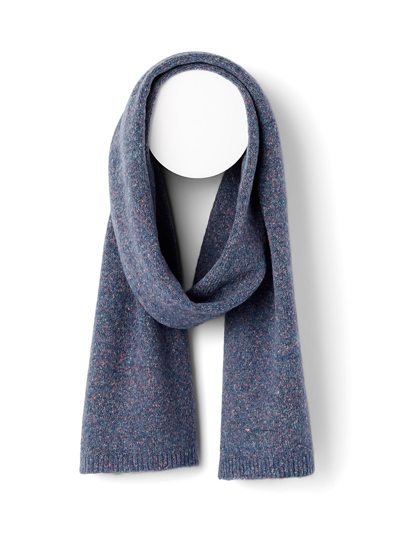 Simons Baby Blue Flecked wool scarf for women