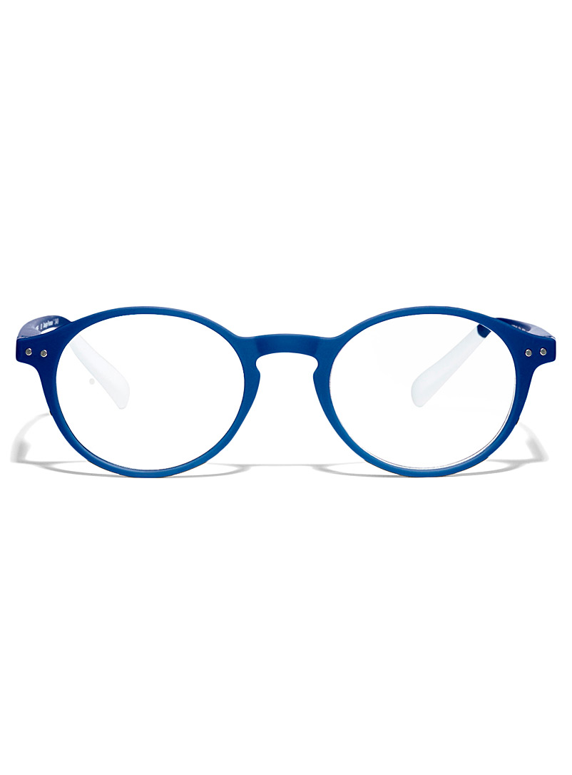 AFTERNOON x PANTONE Sapphire Blue No Two round reading glasses for women
