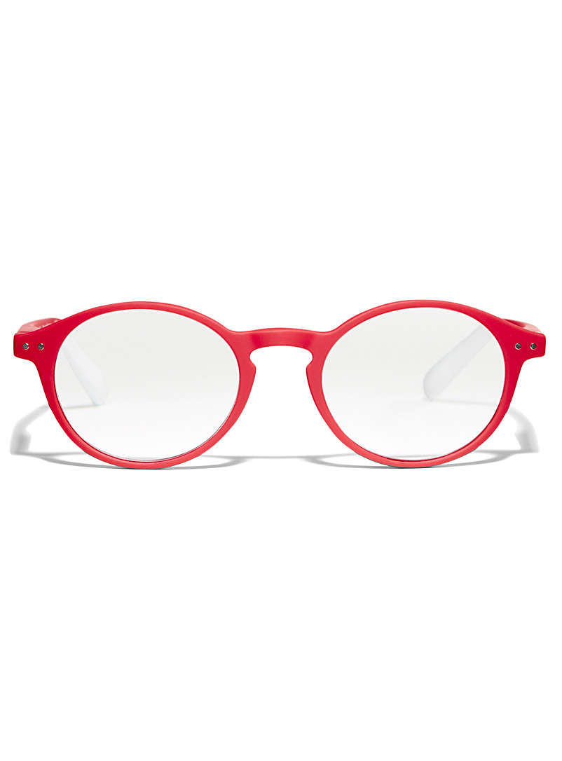AFTERNOON x PANTONE Red No Two round reading glasses for women