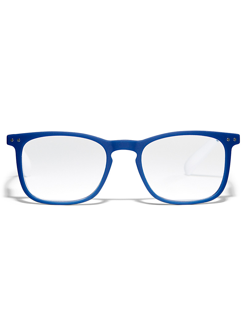 AFTERNOON x PANTONE Sapphire Blue No Three square reading glasses for women