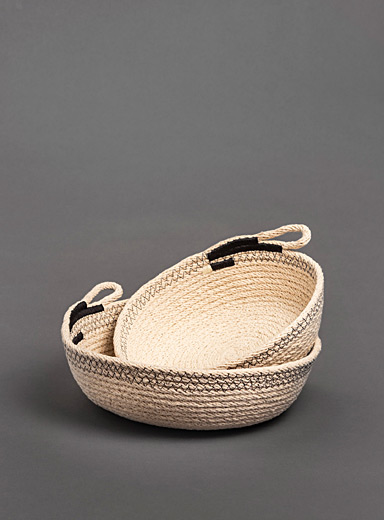 Licio cotton rope basket duo