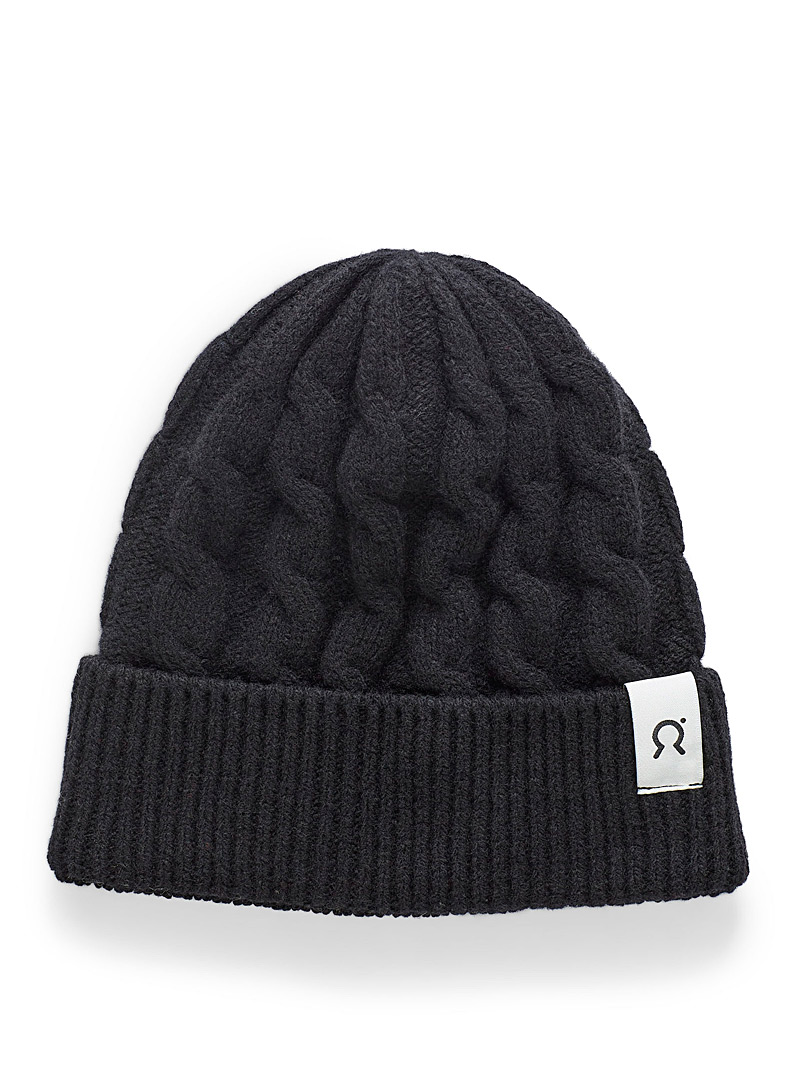 Rifò Black Umberto recycled wool tuque for women