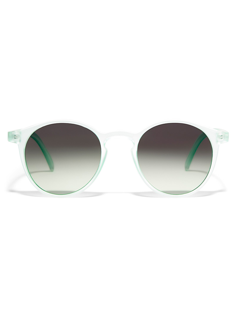 Mize Assorted green  C01 round sunglasses for women