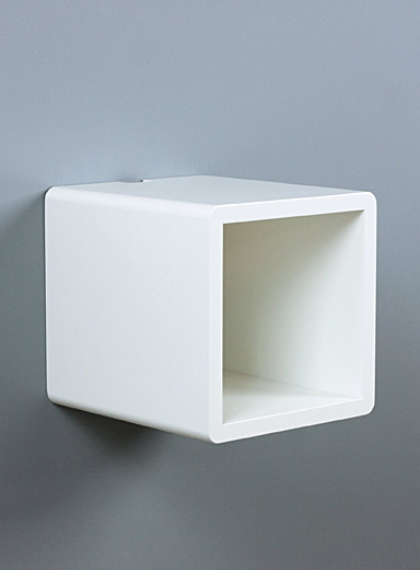 Cubby floating nightstand