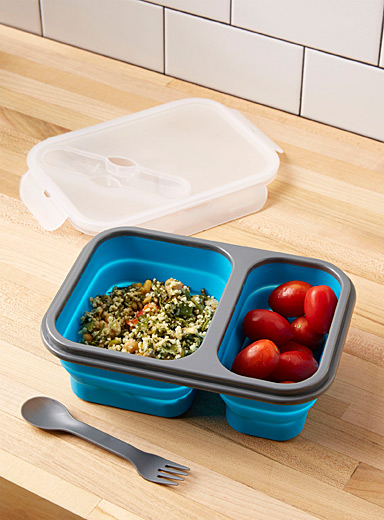 Simons Maison Baby Blue Silicone collapsible lunch box  Three-piece set