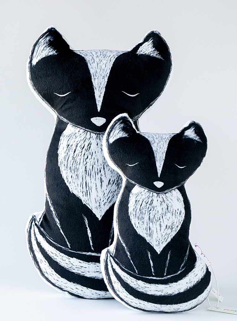 Petit Loulou Black and White Cali the skunk cushion Available in 2 sizes