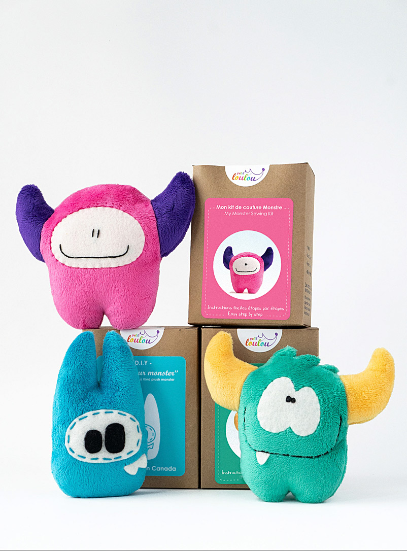Petit Loulou Pink Make Your Own Monster kit