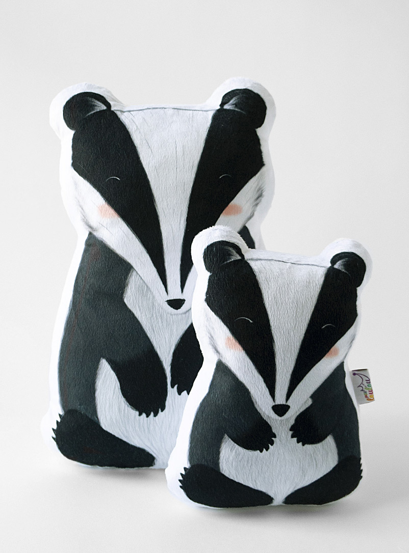 Petit Loulou Assorted Badger cushion Available in 2 sizes