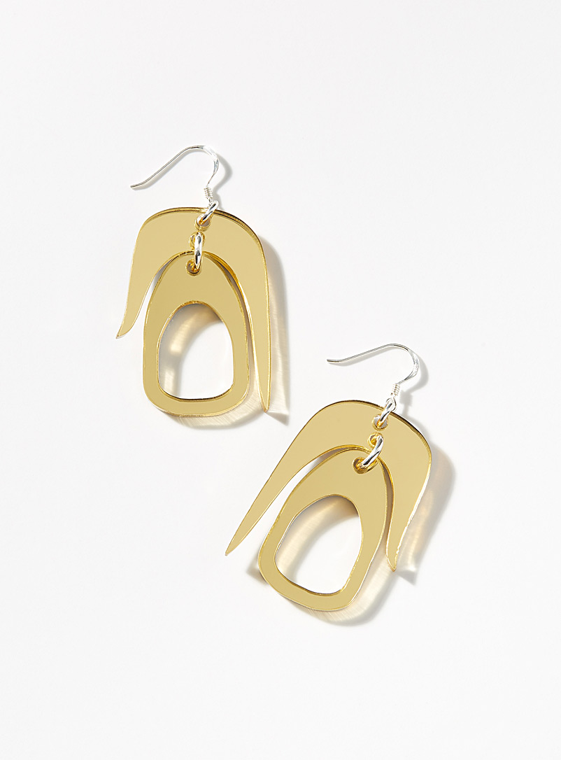 Warren Steven Scott: Les boucles d'oreilles Salish mini Or