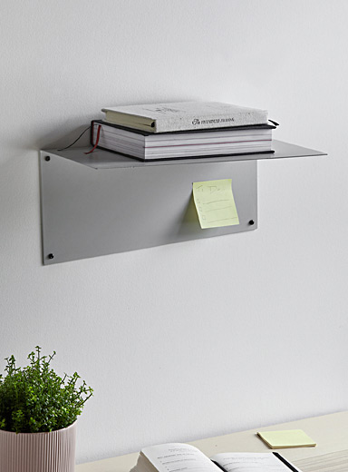 MARdiROS Light Grey Small Angle wall shelf