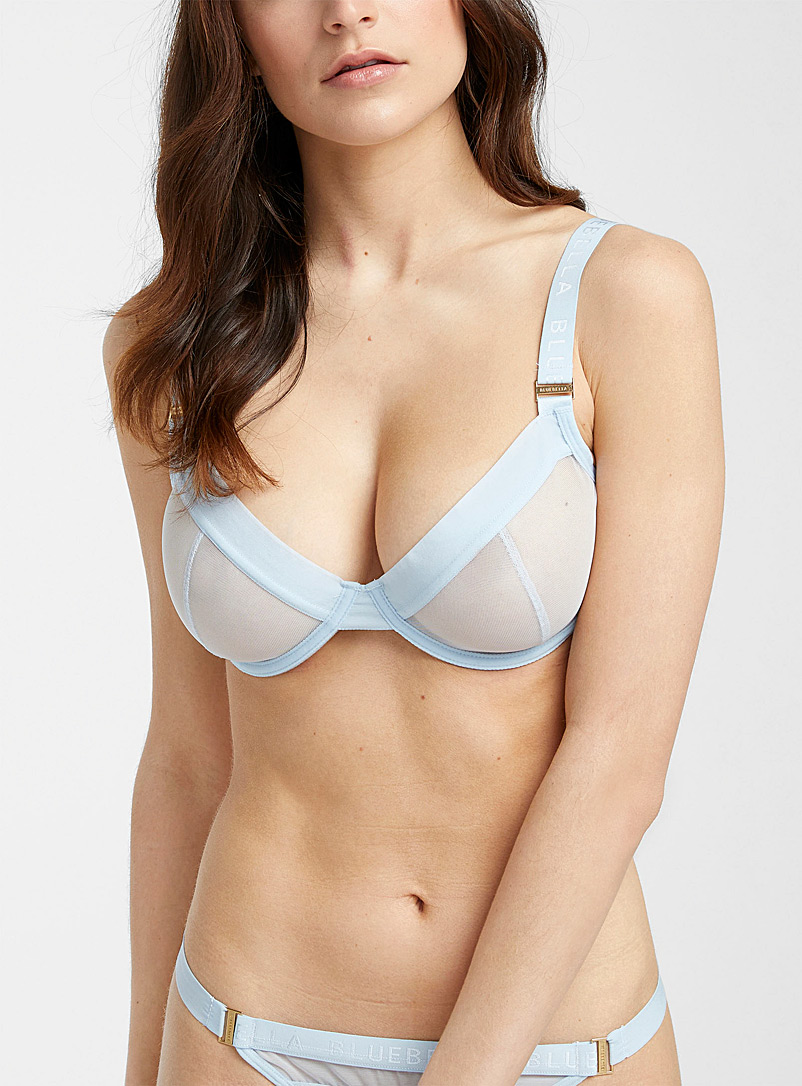 Bluebella Baby Blue Lilia balconette bra for women