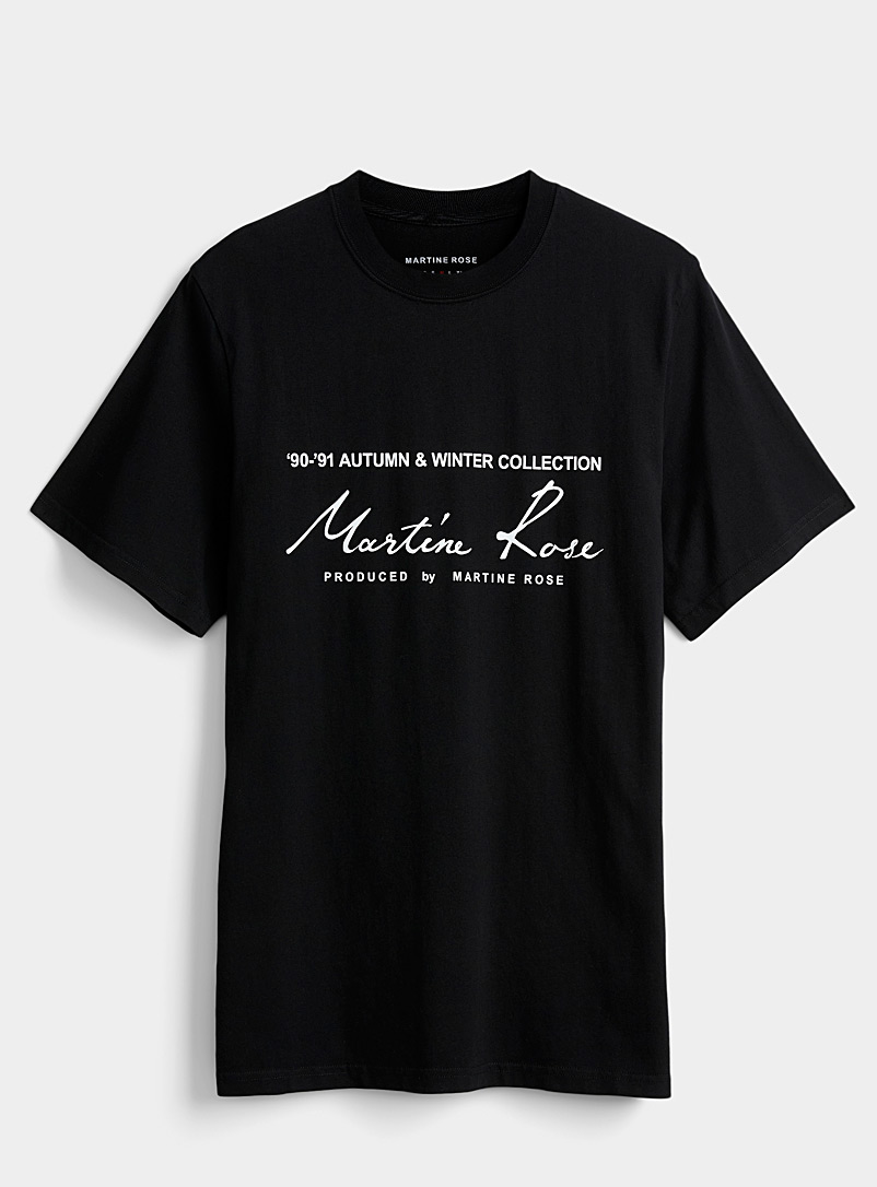 Martine Rose Black Vintage logo T-shirt for men